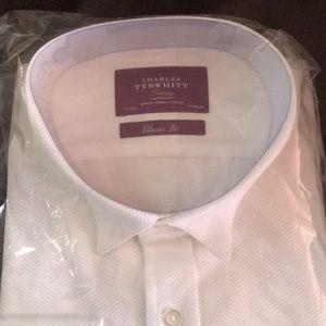 e73c577d800b57 Charles Tyrwhitt Shirts - Classic fit luxury marcella bib front white shirt